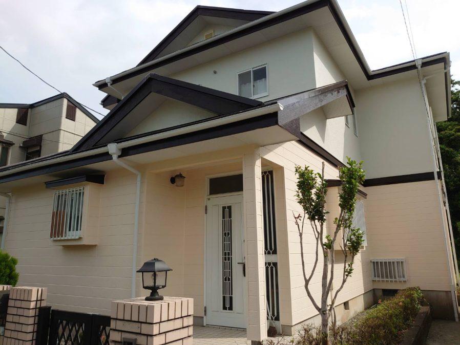 茂原市で外壁・屋根塗装工事が完工です。