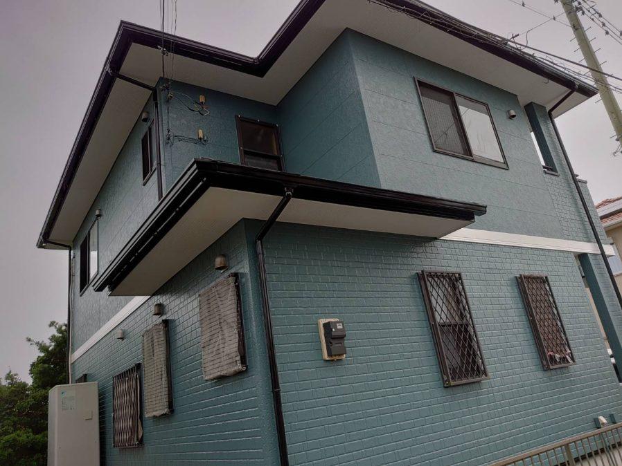 長生郡で外壁・屋根塗装工事が完工です。