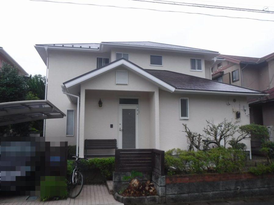 大網白里市で外壁・屋根塗装工事が完工です。