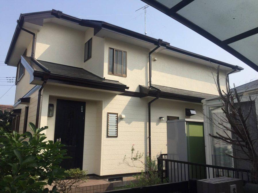 東金市にて外壁・屋根塗装工事が完工です。