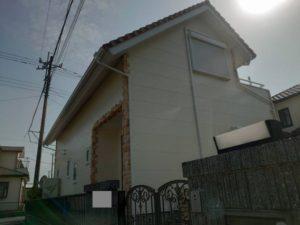 長生村で外壁塗装・棟取り直し工事が完工です。
