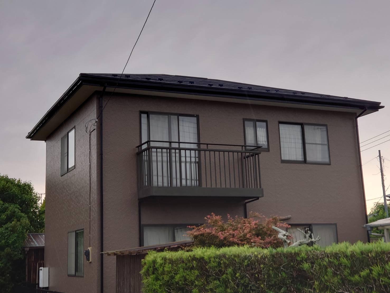 長生郡I様邸 外壁塗装・屋根カバー工事