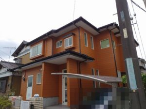 茂原市で外壁塗装・屋根葺き替え工事が完工です。