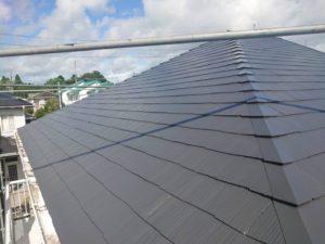 茂原市で屋根塗装工事が完工です。