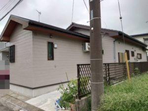 長生村で外壁・屋根塗装工事が完工です。