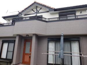 長生村で外壁塗装工事が完工です。