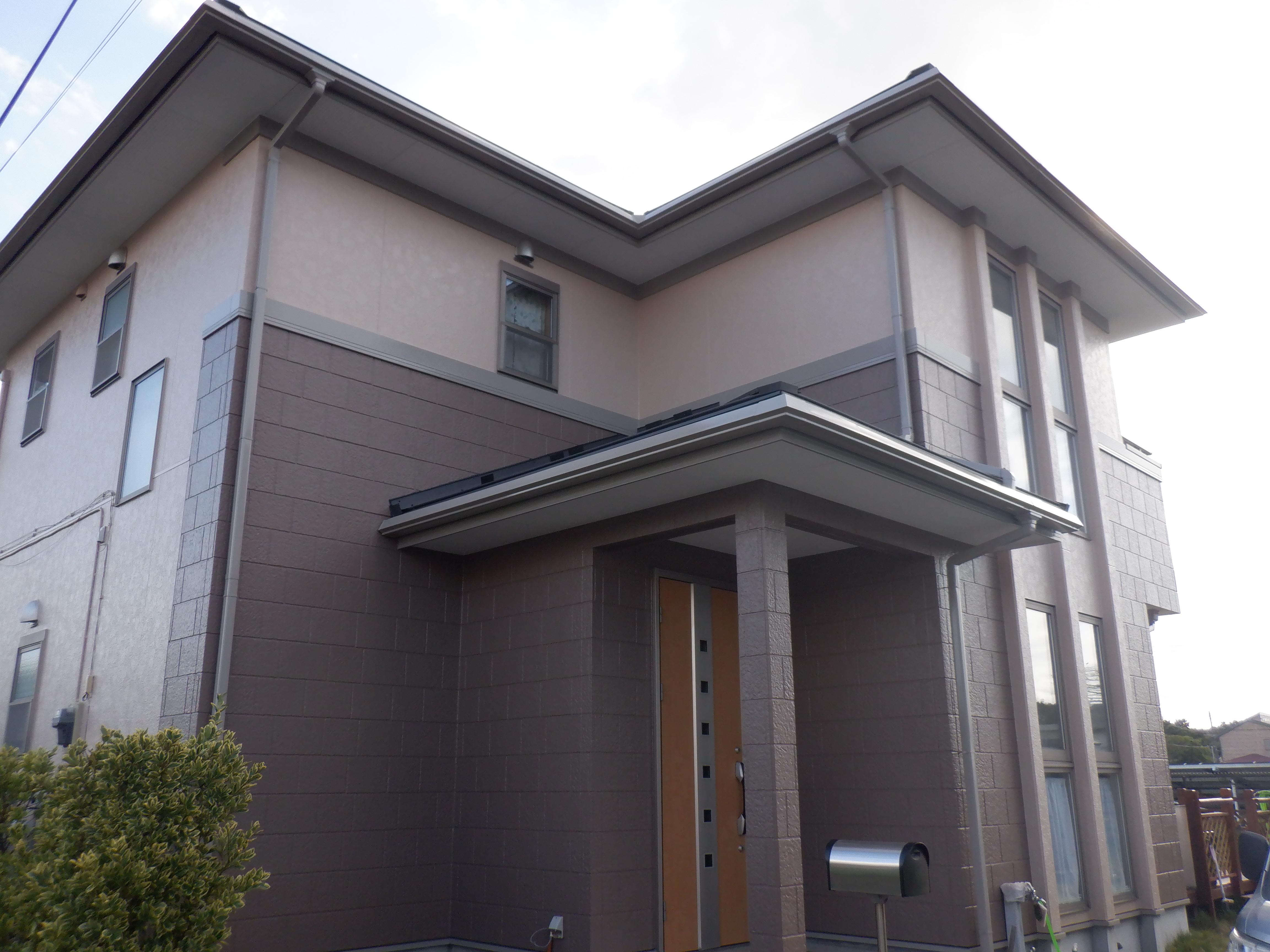 長生郡K様邸 外壁塗装・屋根カバー工事